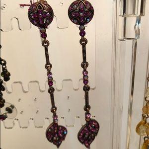 Earrings crystal dangle